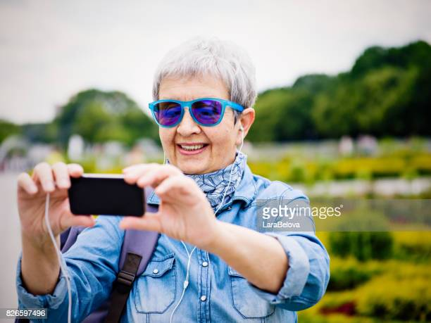 Senior woman in vacation