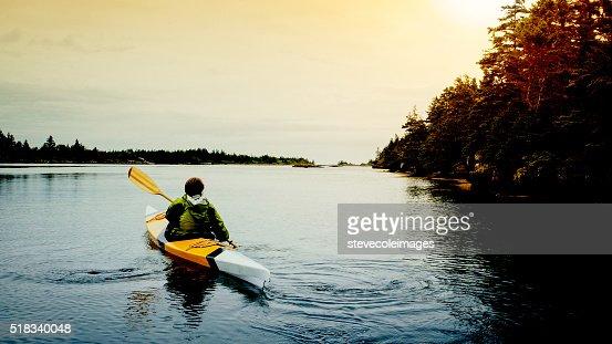 Senior Woman Kayaking