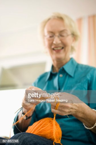 senior woman knitting in nursing home bavaria germany photo getty images. Black Bedroom Furniture Sets. Home Design Ideas