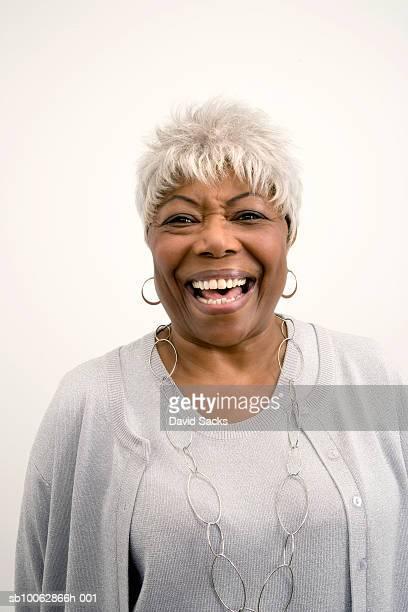 Senior woman laughing, close-up, portrait