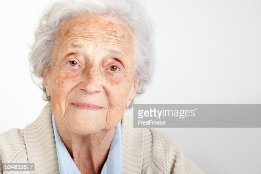 Senior woman looking into camera
