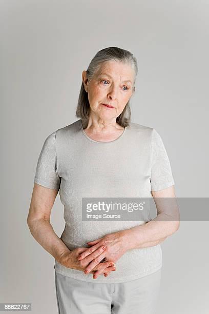 Senior woman looking worries