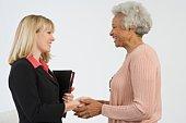 Senior Woman Meeting Financial Advisor