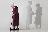 Senior woman misses the support of her carer