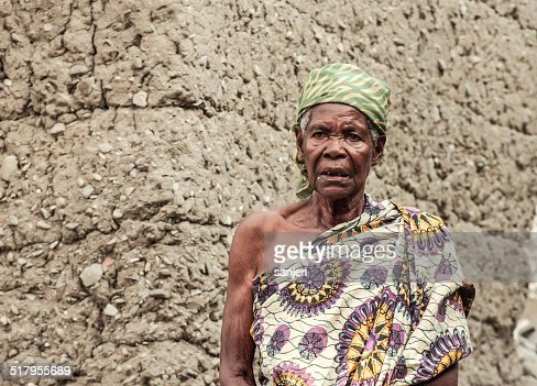 Senior woman portrait - Africa, Ghana