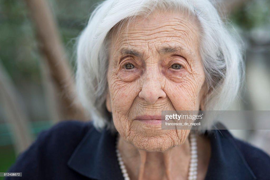 Senior Frau Porträt : Stock-Foto