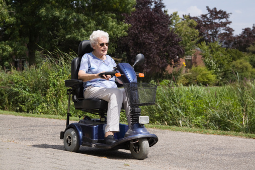 Personal mobility vehicle stock photos and pictures for Motorized scooters for seniors