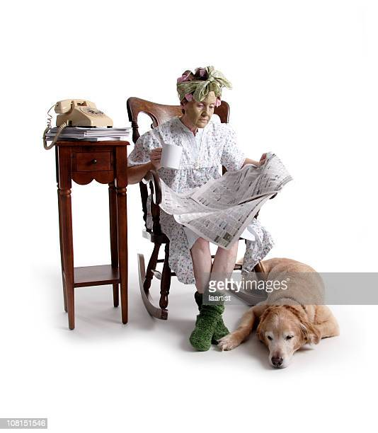 Old Woman Rocking Chair Stock Photos And Pictures Getty