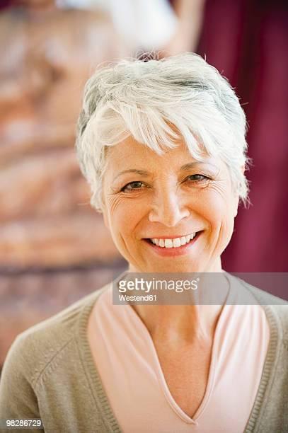 Senior woman, smiling, close-up