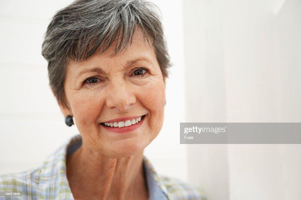 Senior Woman Smiling : Stock Photo
