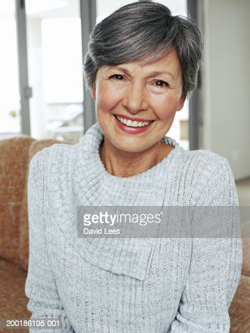 senior woman smiling portrait closeup photo getty images. Black Bedroom Furniture Sets. Home Design Ideas