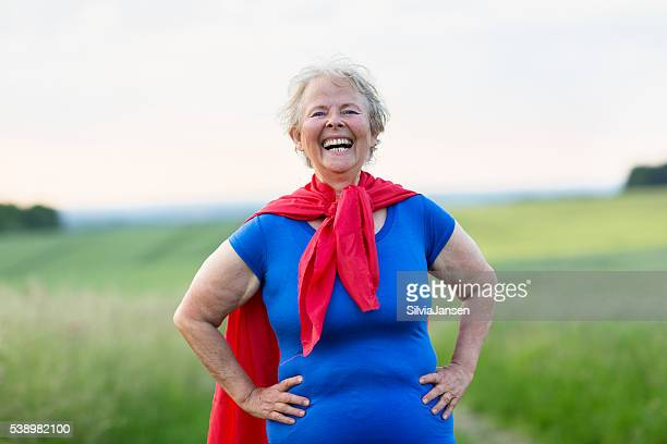 senior woman superhero