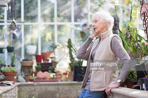 Senior woman using smart phone
