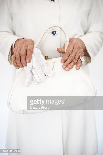Senior Woman Wearing Stylish Outfit : Stock-Foto