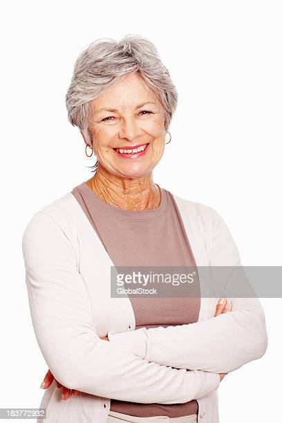 Senior woman with arms folded