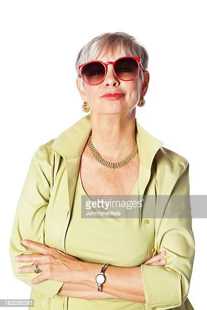 Senior Frau mit Mode-Einstellung