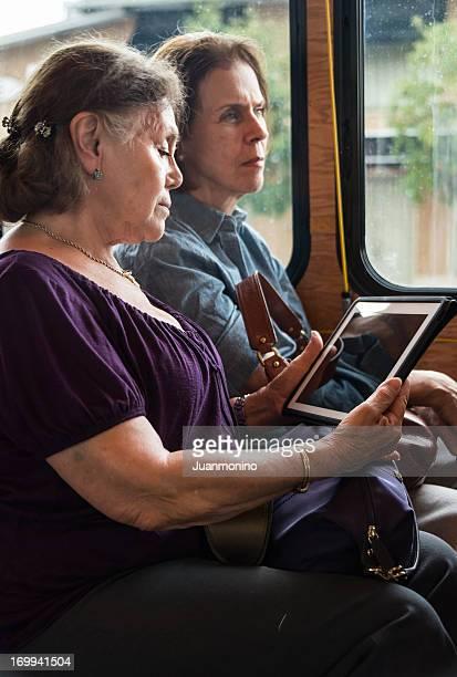 Senior women in a bus