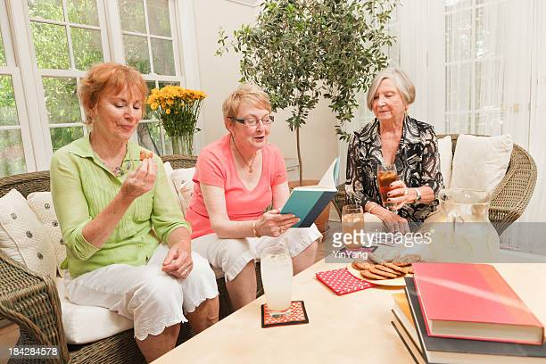 Senior Women Social Gathering Reading in Book Club Hz