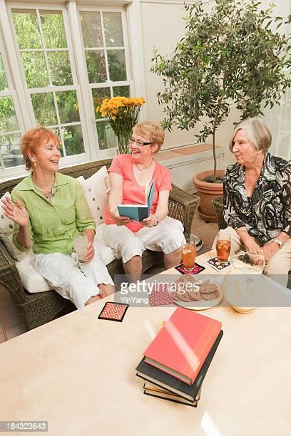 Senior Women Social Gathering Reading in Book Club