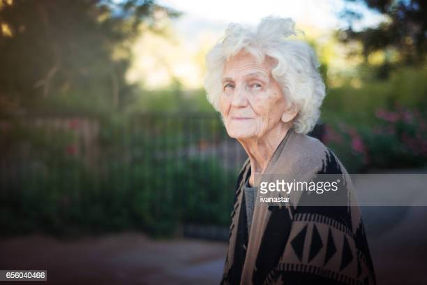 Senior Women with Gentle Smile