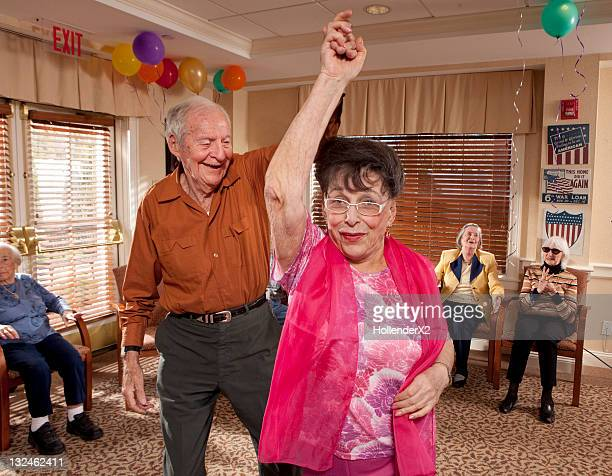 Seniors dancing at party