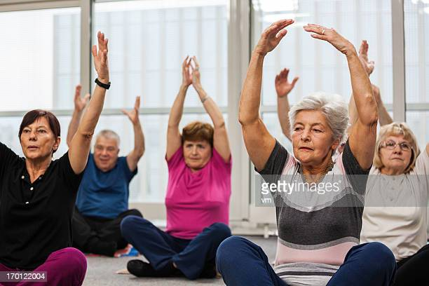 Seniors Doing Pilates Exercises