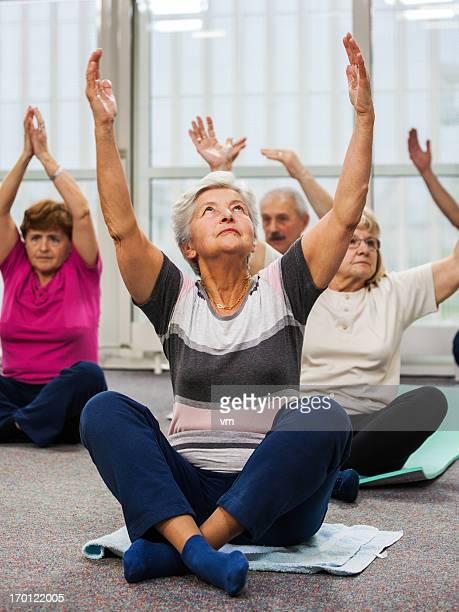 Seniors Doing Pilates Exercises