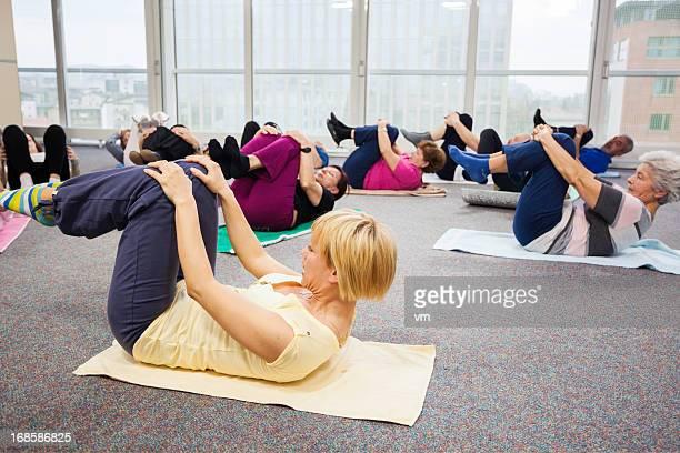 Seniors Doing Stretching Exercises
