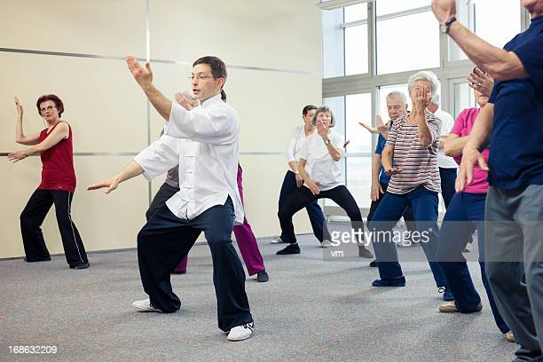 Seniors Doing Tai Chi Exercises