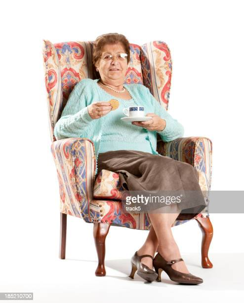 seniors: English lady at home