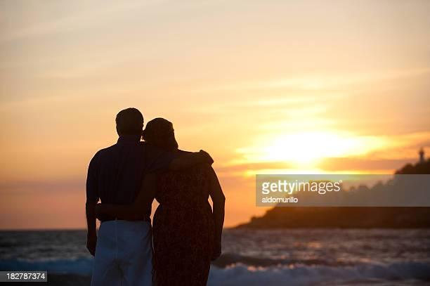 Seniors enjoying the sunset