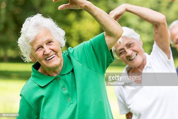 Seniors - gymnastics in the park