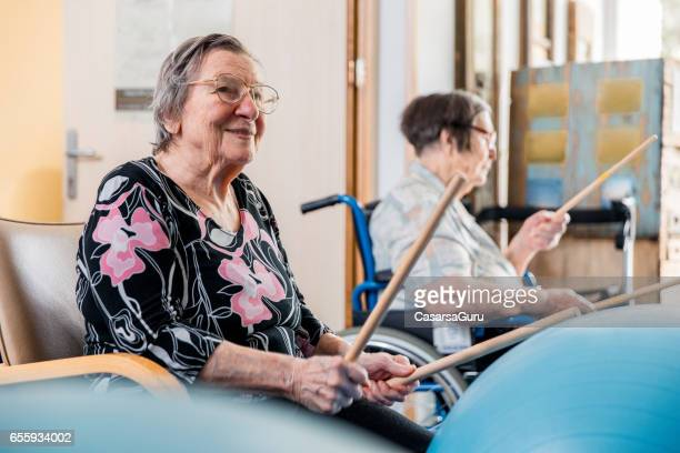 Seniors In The Retirement Community Have Physical Therapy