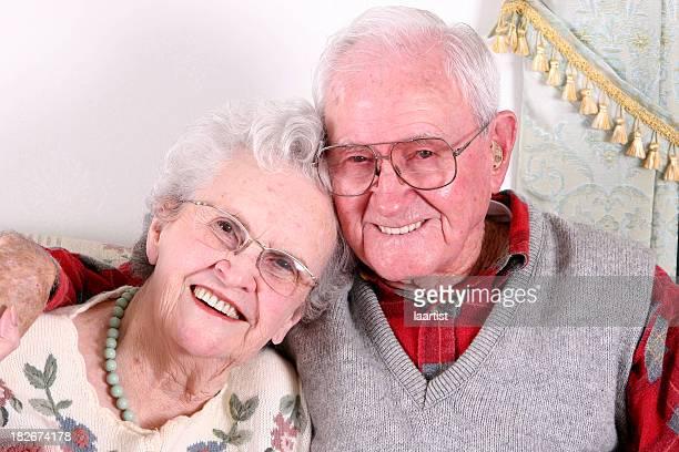 Senioren Lächeln.