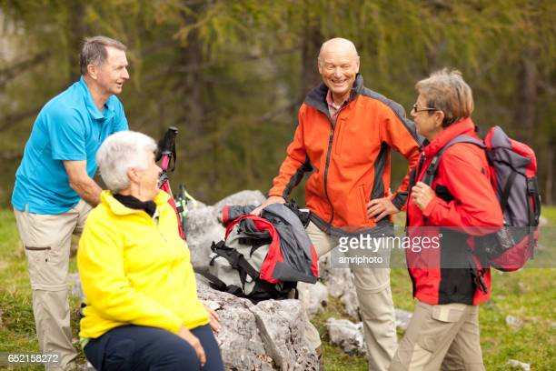 Seniors Taking on the World, hiking friends
