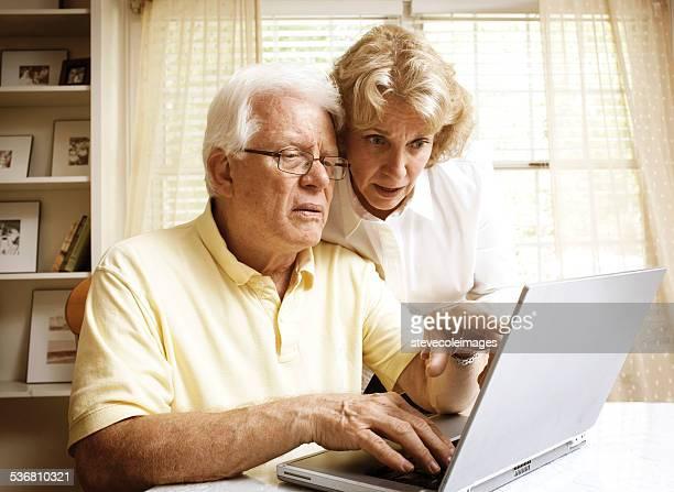 Seniors with Computer