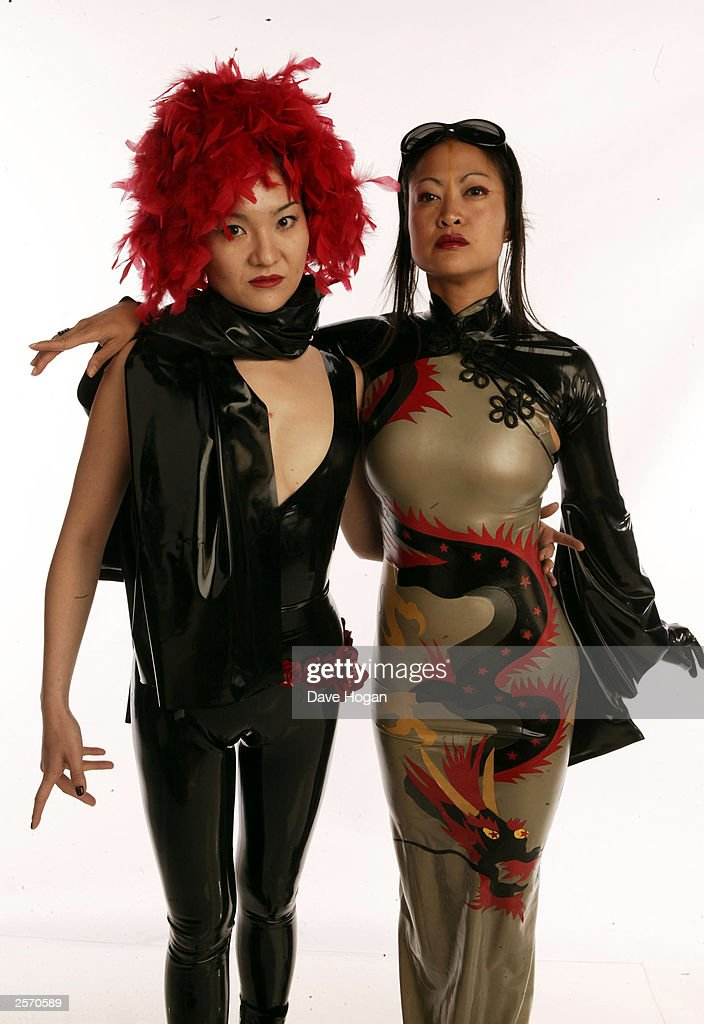 Senju and Yin pose at the Skin Two Rubber Ball at Po Na Na in Hammersmith on October 06, 2003 in London.