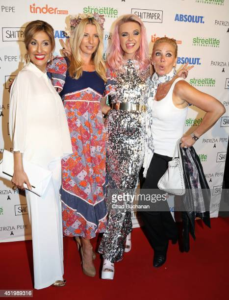 Senna Gammour Giulia Siegel Bonnie Strange and Claudia Effenberg attend the Shitpaper launch party on July 10 2014 in Berlin Germany