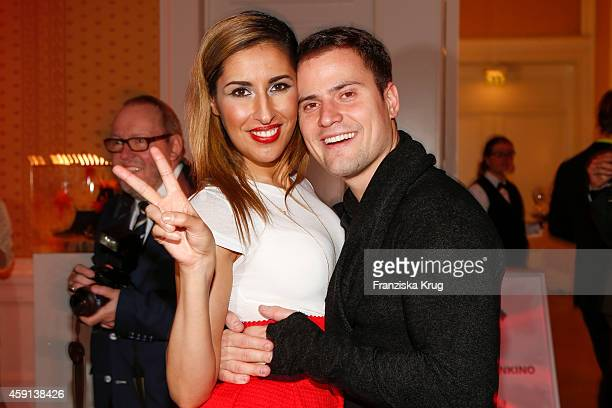 Senna Guemmour and Rocco Stark attend the Deichmann Shoe Step of the Year 2014 on November 17 2014 in Hamburg Germany