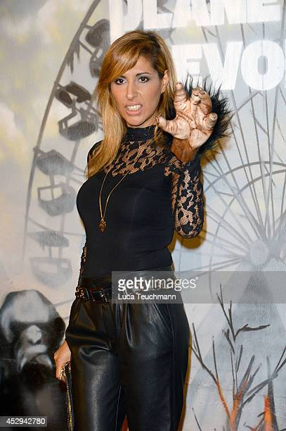 Senna Guemmour attends a special preview for the film 'Dawn of the Planet of the Apes' at Freizeitpark Spreepark on July 30 2014 in Berlin Germany