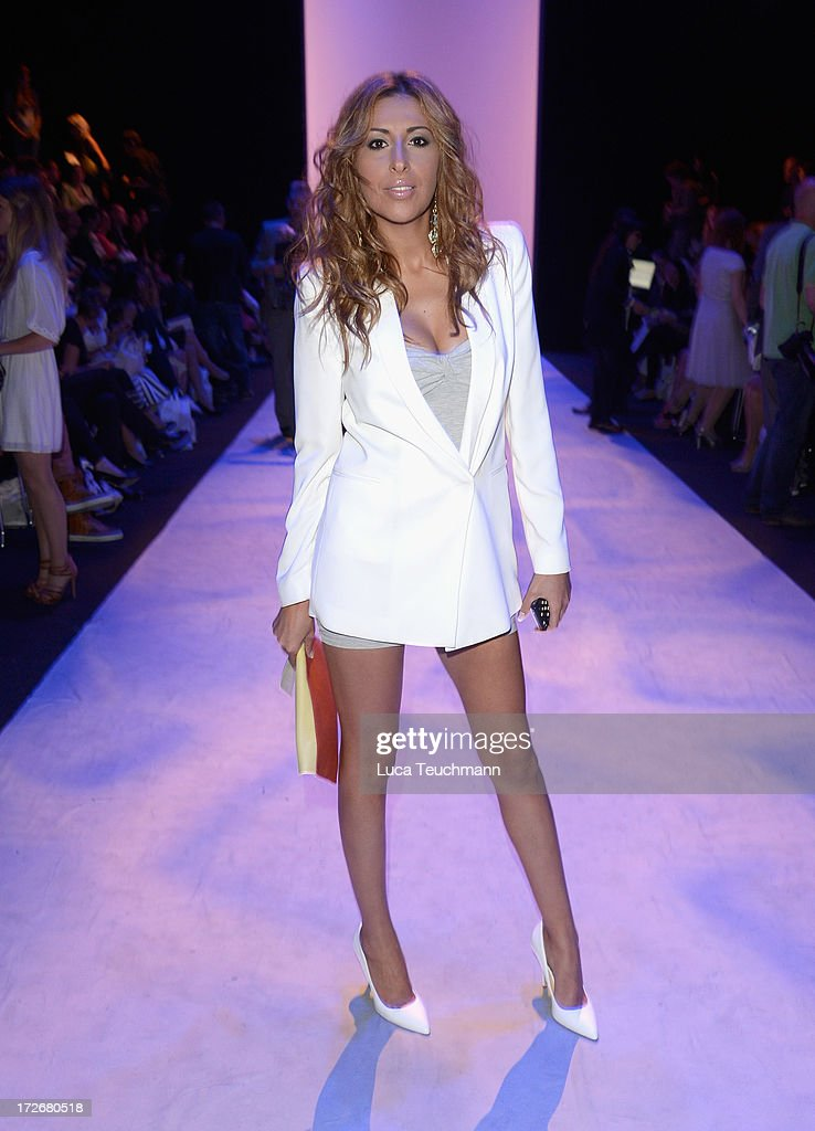 Senna Guemmour attends the Irene Luft Show during the Mercedes-Benz Fashion Week Spring/Summer 2014 at Brandenburg Gate on July 4, 2013 in Berlin, Germany.