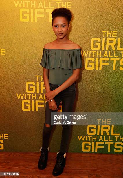 Sennia Nanua attends a special screening of 'The Girl With All The Gifts' at Vue West End on September 19 2016 in London England