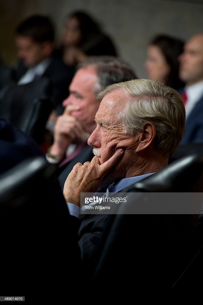 Sens. <a gi-track='captionPersonalityLinkClicked' href=/galleries/search?phrase=Angus+King&family=editorial&specificpeople=2102168 ng-click='$event.stopPropagation()'>Angus King</a>, I-Me., right, and Tim Kaine, D-Va., attend a Senate Armed Services Committee hearing in Dirksen Building on the 'Joint Comprehensive Plan of Action (JCPOA) and the military balance in the Middle East,' August 4, 2015.