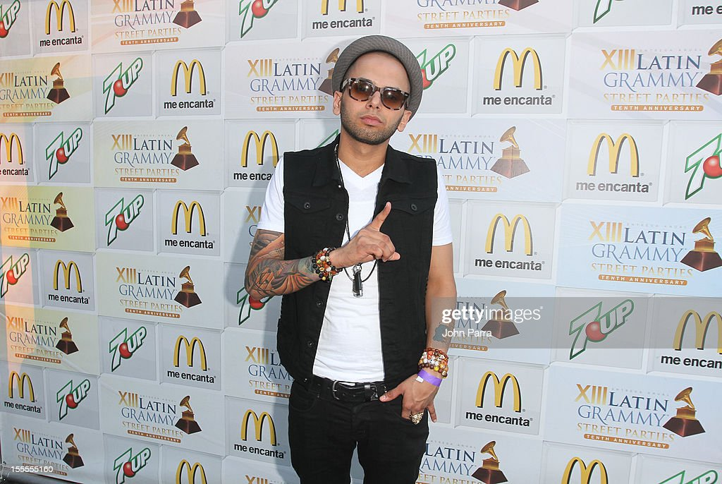 Sensato backstage at the Latin Grammy Street Party 2012 on November 4, 2012 in Hialeah, Florida.