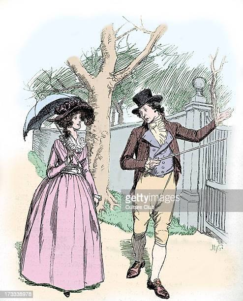 'Sense and Sensibility' by Jane Austen Caption reads John tells Elinor how much he hopes Marianne will marry Colonel Brandon First published in 1896...