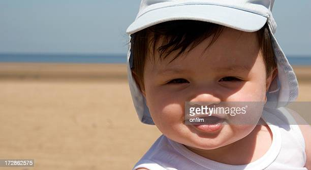 Sensible baby, sunhat and sunblock