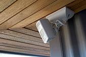 sensor light on a residential building