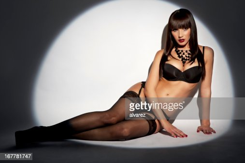Sensual woman in lingerie