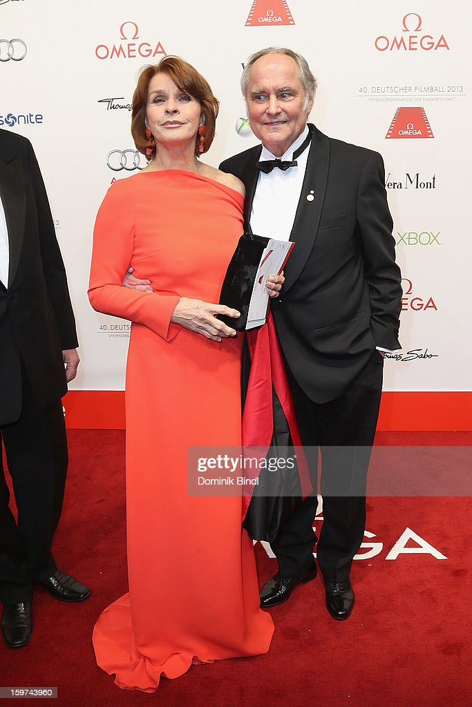 Senta Berger and Michael Verhoefen attend the Germany Filmball 2013 at Hotel Bayerischer Hof on January 19, 2013 in Munich, Germany.