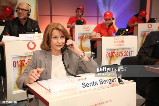 Senta Berger attends the 22nd RTL Telethon on November 23 2017 in Huerth Germany